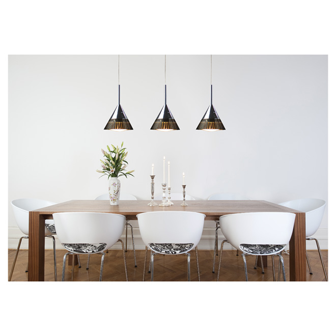 Pendant Light - 3 Lights - Oxydell - 7.2W LED -Chrome/Coffee