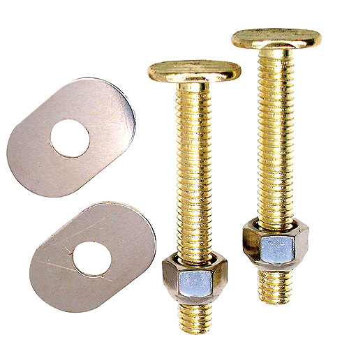 Closet Bolts - Plated Brass