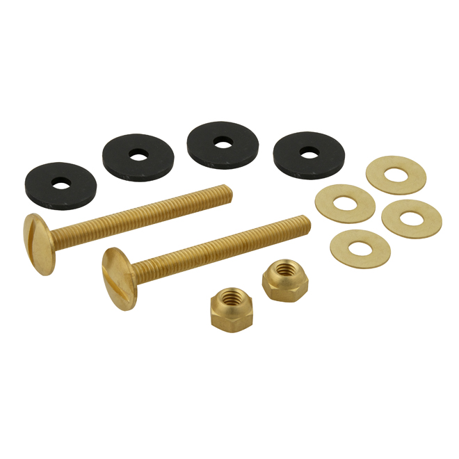 "Close Coupled Bolts - Solid Brass - 5/16"" x 3"""