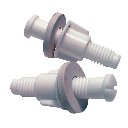 Bolts for Toilet Seat - White