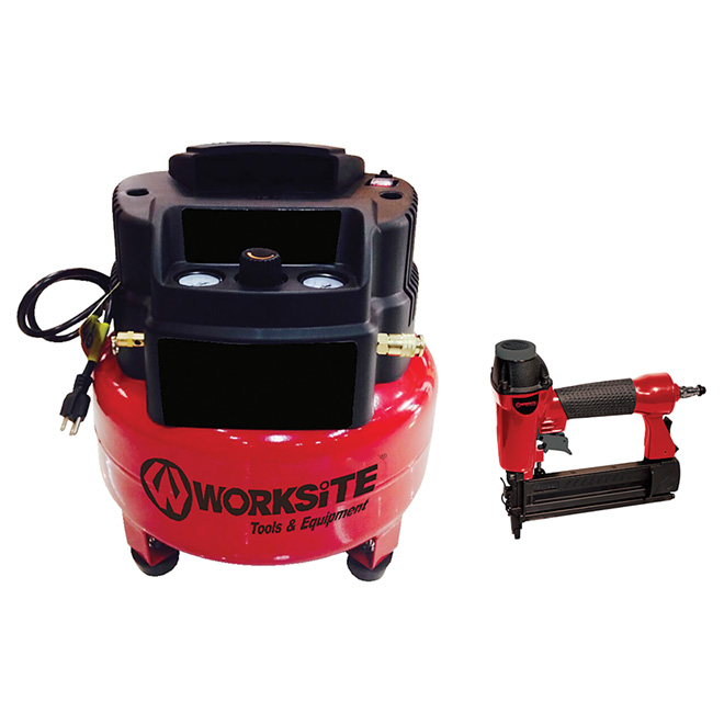 6-Gallon Compressor 1,5HP with Brad Nailer