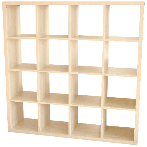 Biblioth que 16 cases rona for Meuble 16 cases