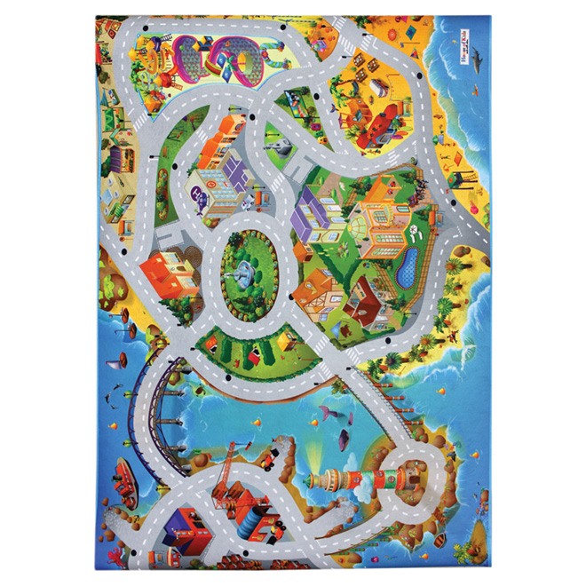 Kids Printed Mat 3 ft 3in x 5 ft - Blue