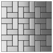 Brushed Steel Self-adhesive Tiles