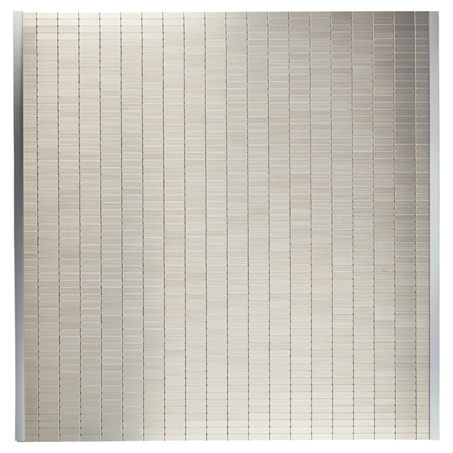 "Self-Adhesive Backsplash Tile - ""Urbain"" - Metal"