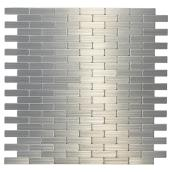 Self-Adhesive Metal Tile - Bricky S2 - Stainless Steel