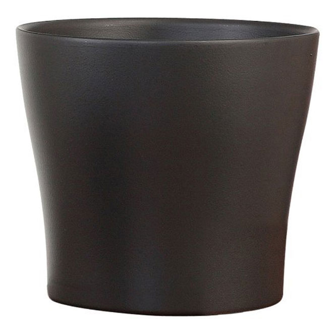 "Pot Cover - ""Anthrazit"" Ceramic Pot Cover 6"" - Anthracite"