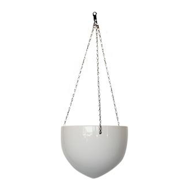 Ceramic Hanging Pot Cover 22cm - White