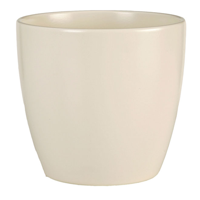 Ceramic Pot Cover 14cm - Cream