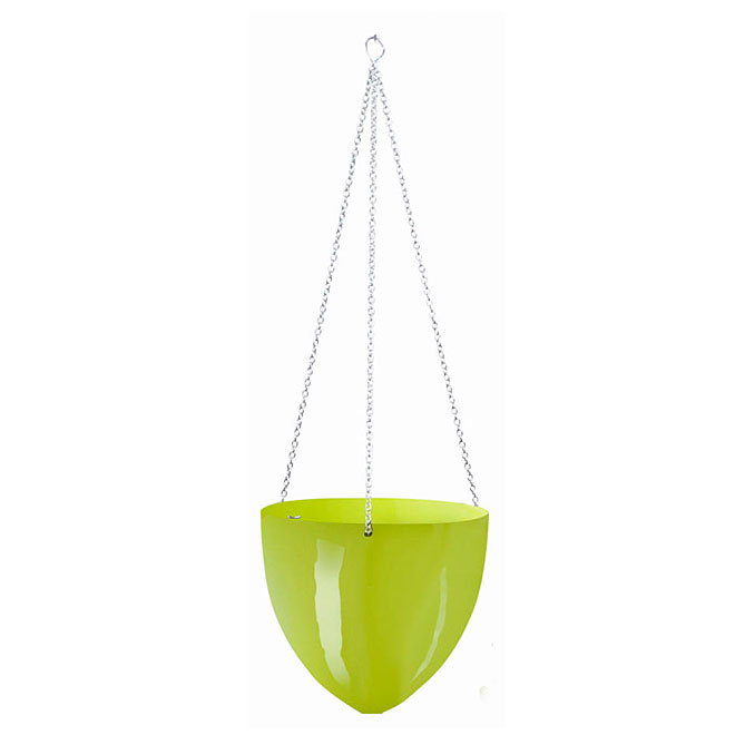 Plastic Hanging Pot 20cm - Lime Green