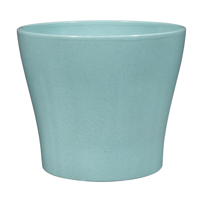 Ceramic Cover Pot 17cm - Celadon