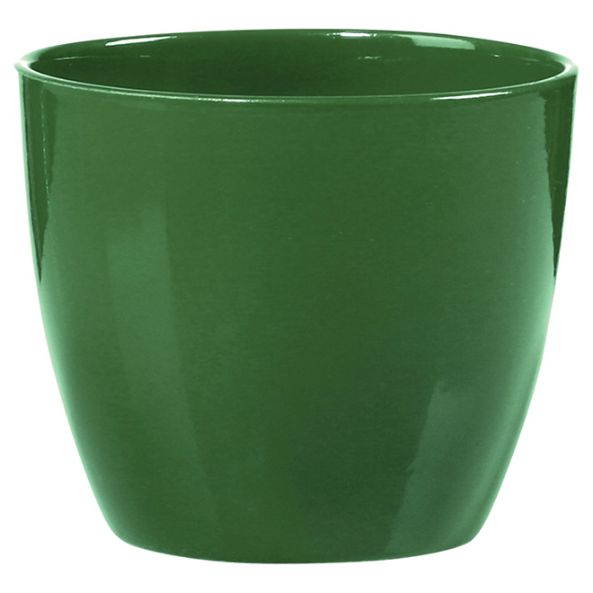 "Ceramic Pot Cover - 6"" - Green"
