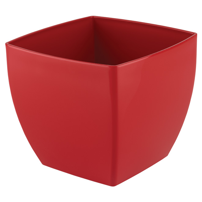 "Plastic Pot Cover ""Siena"" 30cm - Red"