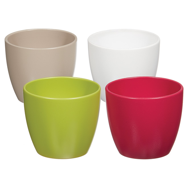 "Ceramic Pot Cover - 3 1/2"" - Assorted"