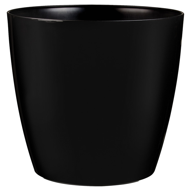 "Cover Pot with Wheels - ""San Remo"" - 14"" - Black"