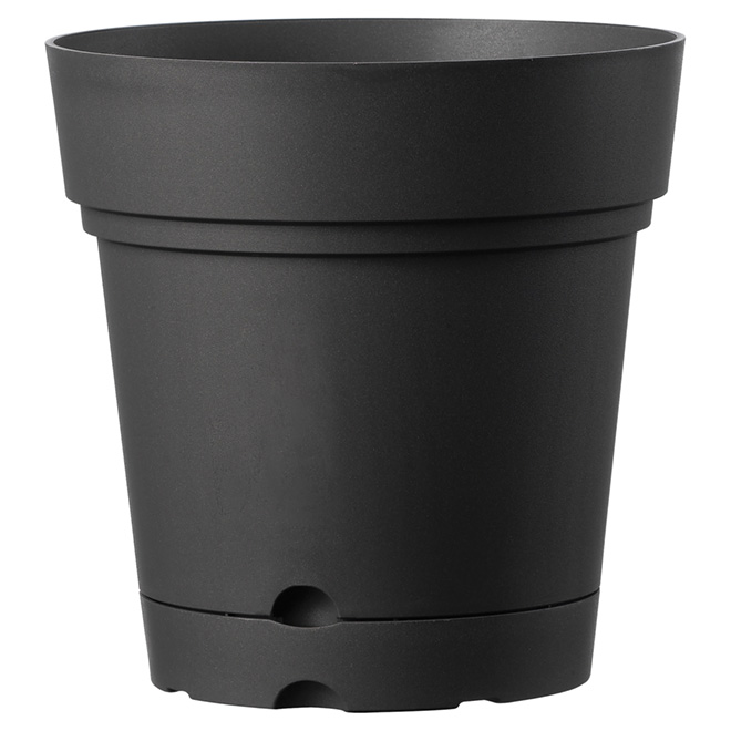 "Planter Pot with Saucer - 8.6"" - Black"