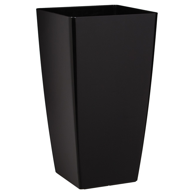 "Tall Cover Pot - ""Piza"" - 23.6"" - Anthracite"