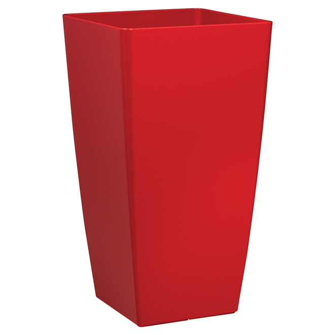 "Tall Cover Pot - ""Piza"" - 23.6"" - Red"