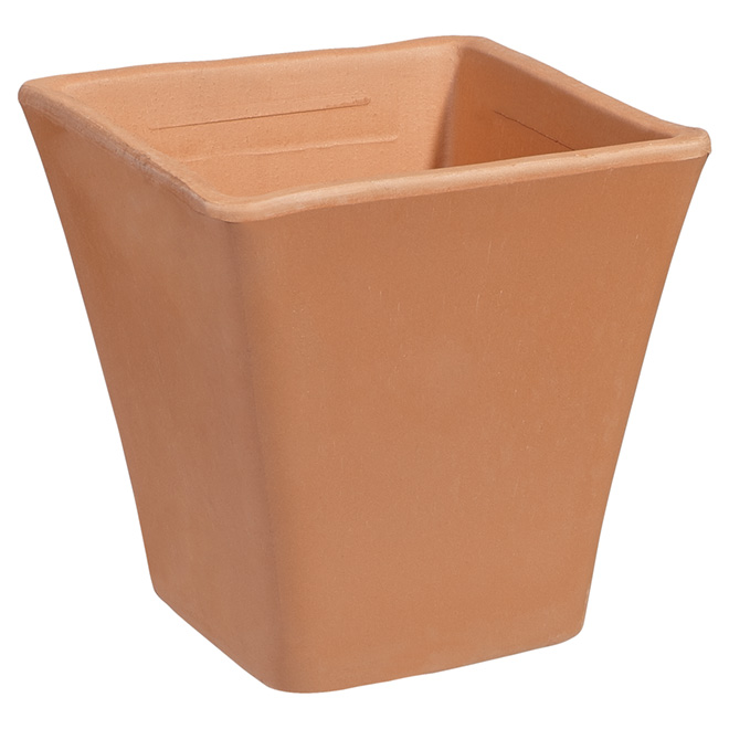 Clay Square Pot - 18 cm - Bleached