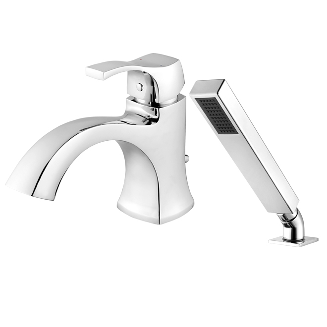 Roman Bath Faucet with Hand Shower - Chrome | RONA
