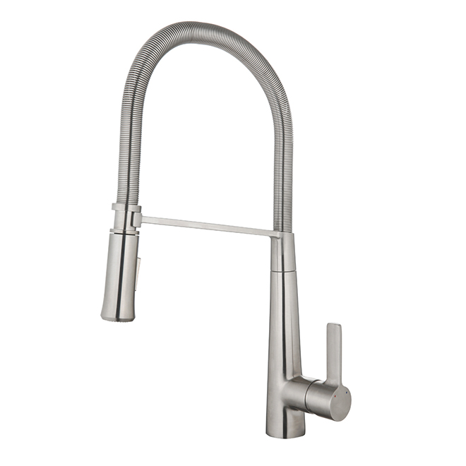 Retractable Kitchen Faucet - Flexible Hose - Stainless Steel | RONA