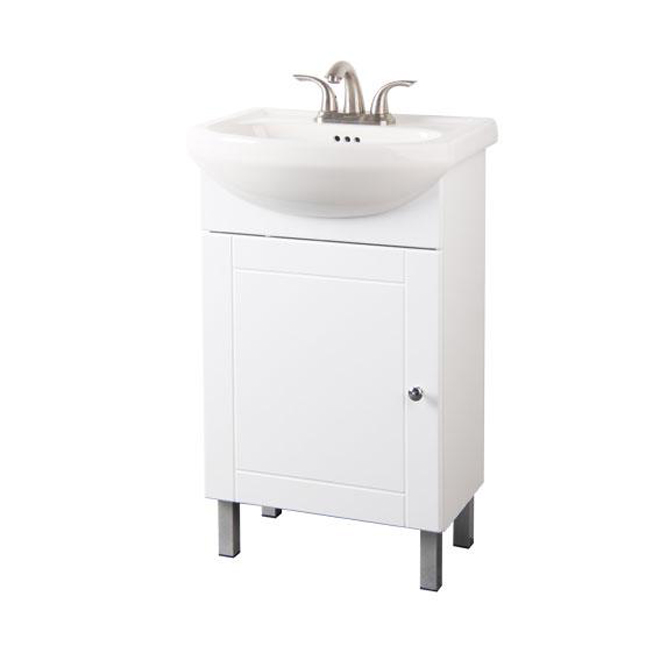 One door vanity white rona for Reno salle de bain