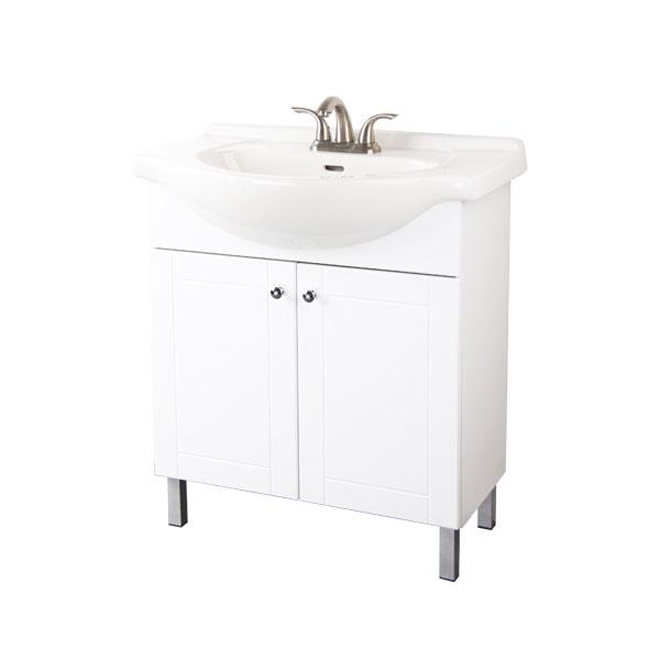 Two Door Vanity White Rona