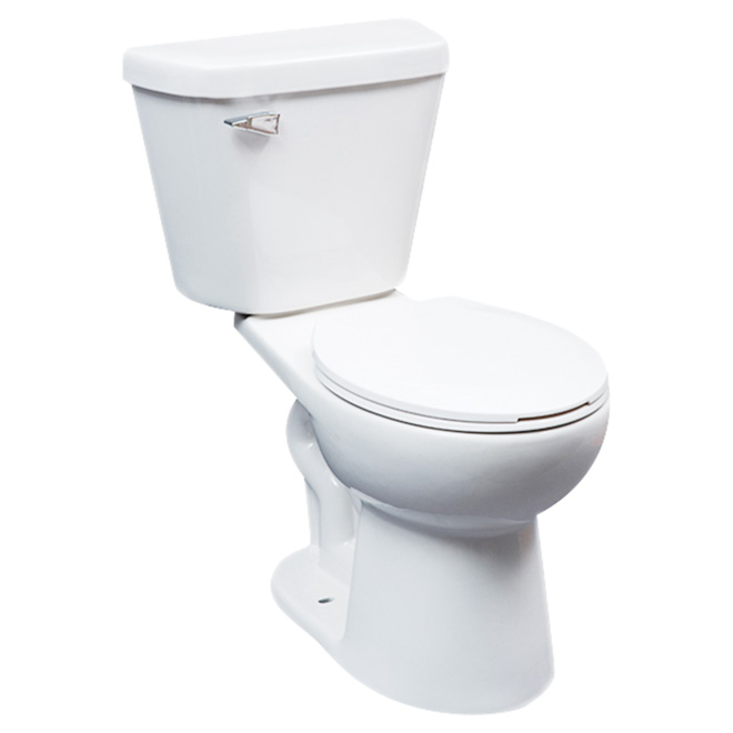 Round Front 2 Piece Toilet Comfort 4 8 L White RONA