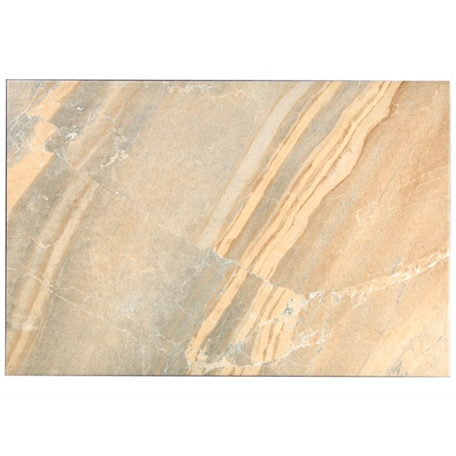 """Ladda"" Ceramic Floor Tile 16"" x 24"" - Beige"