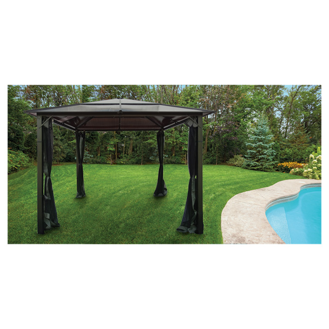 Sun Shelter - 10' x 10' - Dark Grey