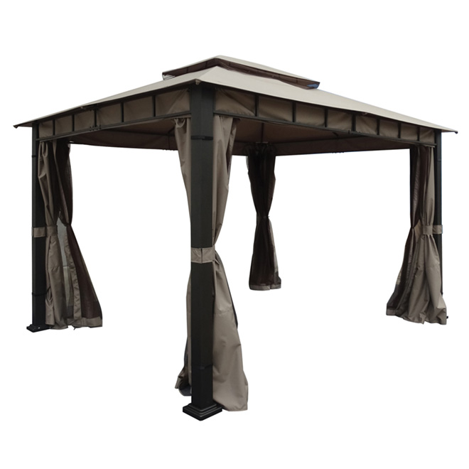 Sun Shelter - 10' x 12' - Taupe/Black