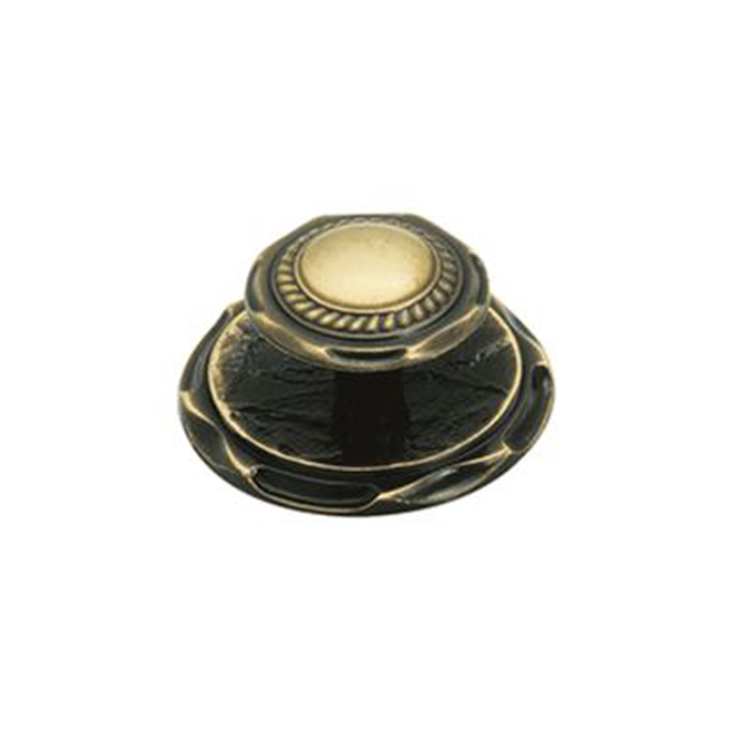 "Cabinet Knob with Backplate - 2"" - Antique English"