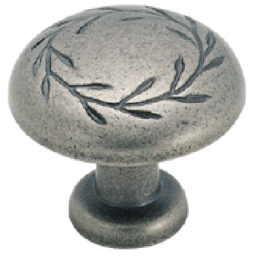 Metal Nickel Finish Knob