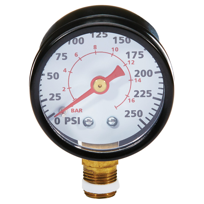 "1/8"" NPT Air Compressor Pressure Gauge - 0-200 PSI"