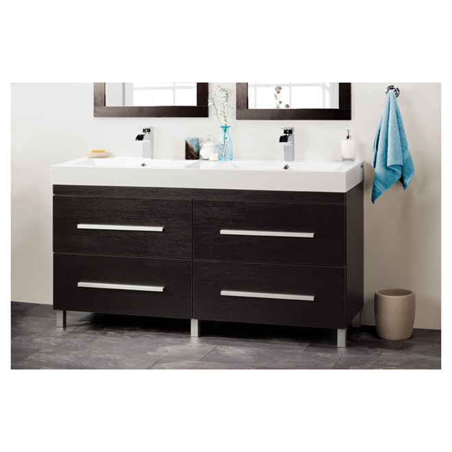 meuble lavabo double rona. Black Bedroom Furniture Sets. Home Design Ideas