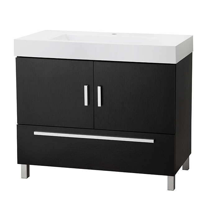 Sutton Vanity With 2 Doors And 1 Drawer Espresso Rona