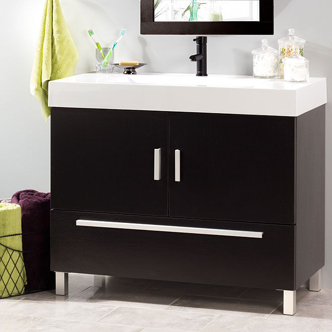 Sutton Vanity with 2 doors and 1 drawer - Espresso