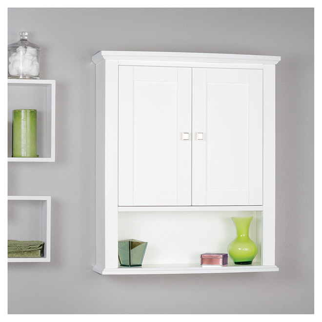 armoire pharmacie tallia 2 portes et 1 tablette blanc rona. Black Bedroom Furniture Sets. Home Design Ideas