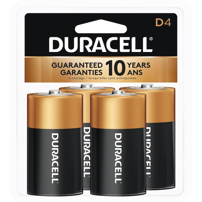 "Pack of 4 ""D"" Batteries"