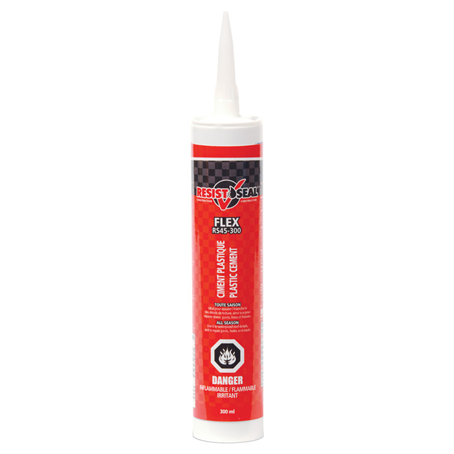 Flex Plastic Cement - All Season - Black - 300ml