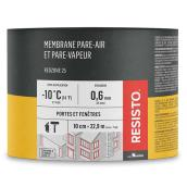 Membrane pare-air/vapeur « Red Zone 25 », 4 po x 75 pi