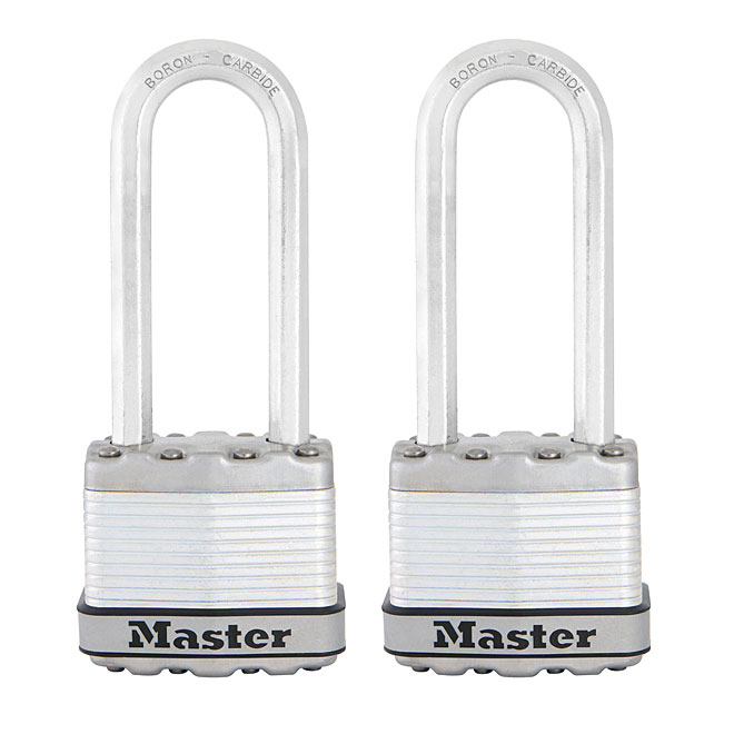 "Pack of 2 Laminated Steel Padlocks - 2"" - Steel"