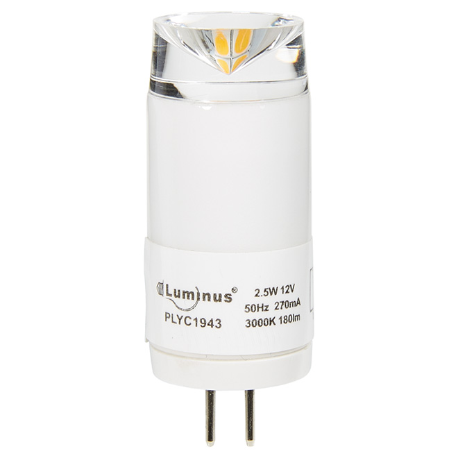 Ampoule DEL G4 2,5 W, intensité non réglable, blanc brillant