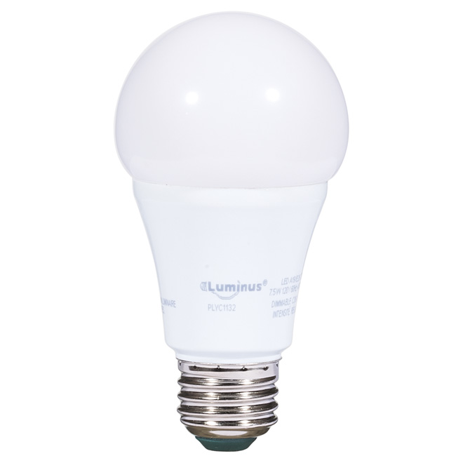 7.5W LED Dimmable A19 Bulb - Warm White
