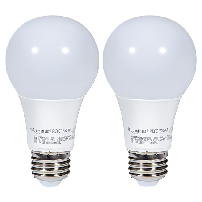 LED Bulb A19 9.5W - Warm White - Pack of 2
