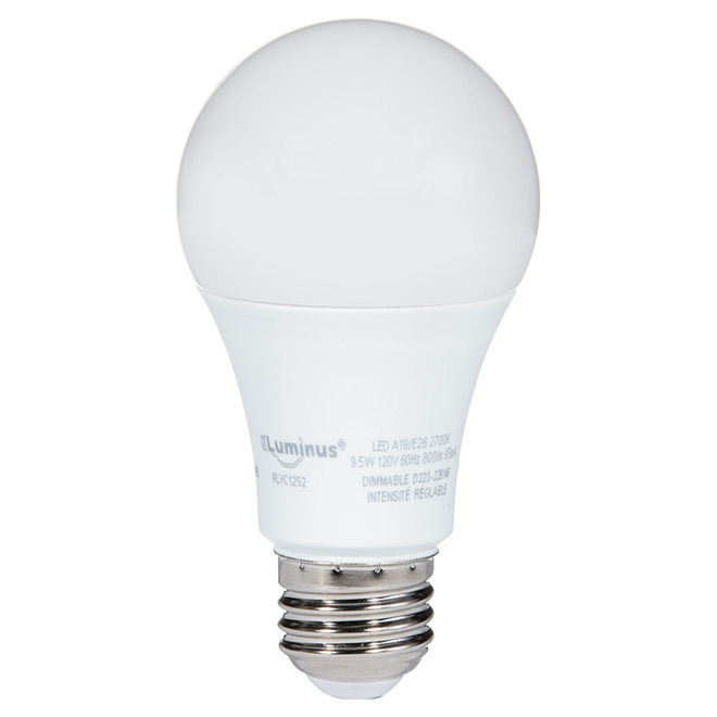 DEL Lightbulb A19 - 8.5 W - Warm White