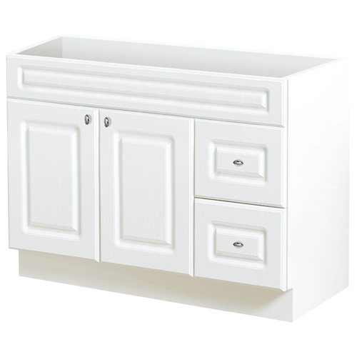 2-door and 2-drawer vanity