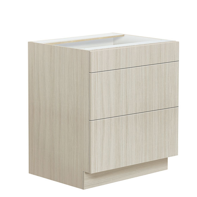 """Fresca"" 3 drawers Lower Cabinet"