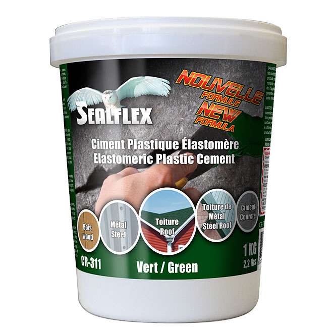 SEALFLEX Elastomeric Plastic Cement - Green, 1 kg