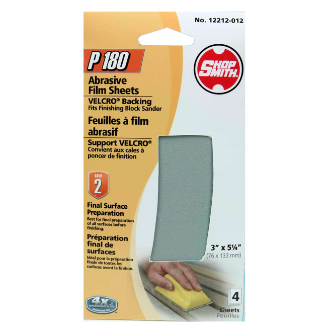 Sanding Film Sheets - Final Prep - 180 Grit- 4-Pack